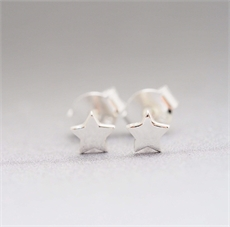 Astra Star Studs Silver-jewellery-The Vault