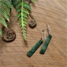 Pounamu Earrings Stg Silver Small-jewellery-The Vault