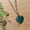 Darren Hill Pounamu Pendant Heart Medium-jewellery-The Vault