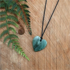 Darren Hill Pounamu Pendant Heart Small-jewellery-The Vault