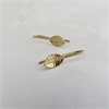 Tiny Leaf Drop Earrings Gold Plate-jewellery-The Vault