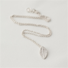 Whalebird Leaf Charm Necklace-jewellery-The Vault