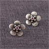 Ruby Manuka Studs Silver-jewellery-The Vault