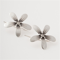 Blossom Earrings Silver-jewellery-The Vault