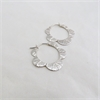 Scalloped Leaf Hoops Silver-jewellery-The Vault