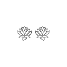 Emergence Silver Lotus Flower Studs-jewellery-The Vault