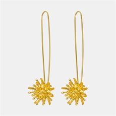 Mt Cook Lily Stems Earrings 22ct GP-jewellery-The Vault