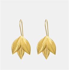 Athena Hook Earrings 22ct Gold Plate-jewellery-The Vault