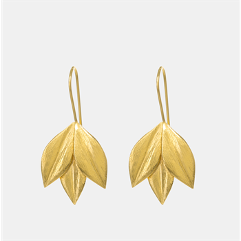 Athena Hook Earrings 22ct Gold Plate