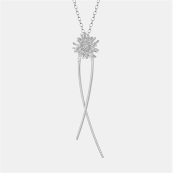 Mt Cook Lily Stem Chain Necklace Silver