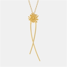 Mt Cook Lily Stem Chain Necklace 22ct GP-jewellery-The Vault
