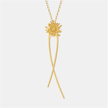 Mt Cook Lily Stem Chain Necklace 22ct GP