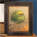 Kakariki Floof Original Oil Painting