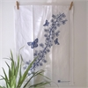 Blue Manuka on White Teatowel-home-The Vault