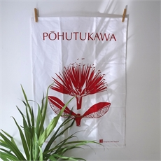 Pacific Pohutukawa Teatowel-artists-and-brands-The Vault