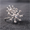 Dandelion Drop Earrings Silver-jewellery-The Vault