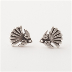Fantail Studs Silver-jewellery-The Vault