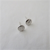 Leaf Dot Studs Silver-jewellery-The Vault