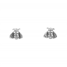 Bee Pollination Studs Silver-jewellery-The Vault