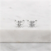 Butterfly Lovers Studs Silver-jewellery-The Vault