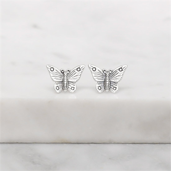 Butterfly Lovers Studs Silver