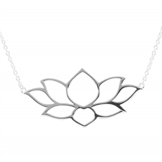 Holding The Light Lotus Necklace-jewellery-The Vault