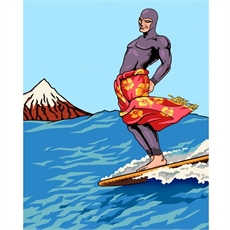 Ghost Surfer A3 Print-home-The Vault