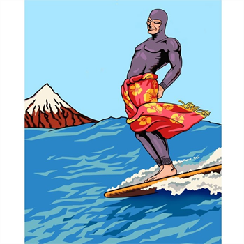 Ghost Surfer A3 Print