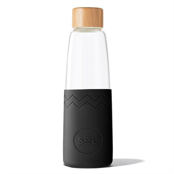 Sol Bottle w Brush & Pouch Basalt Black