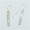 Papa Slab Earrings Silver-jewellery-The Vault