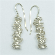 Live Wire Earrings Short Silver-jewellery-The Vault