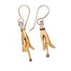 Yellow Harakeke Earrings Silver GP-jewellery-The Vault