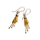 Kowhai Earrings Small Silver Gold Plate