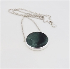Pounamu Pool Necklace Silver-jewellery-The Vault