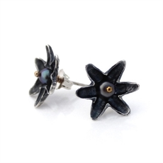 Lotus Flower Studs Silver-jewellery-The Vault