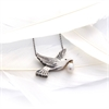 Dove Necklace Silver with Pearl-jewellery-The Vault