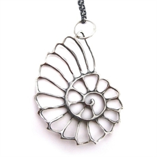 Nautilus Necklace Silver-jewellery-The Vault