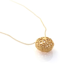 Lace Pod Necklace 22k Gold Plate-jewellery-The Vault