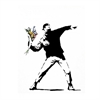 Banksy London Flower Thrower A3 Print-home-The Vault
