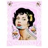 Pink Wahine Stamp A3 Print-home-The Vault
