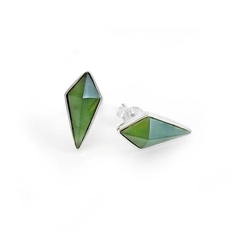 Pinnacle Studs Pounamu-jewellery-The Vault