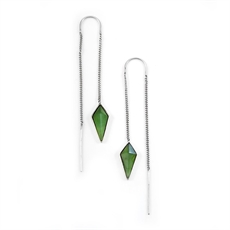 Pinnacle Chain Earrings Pounamu-jewellery-The Vault
