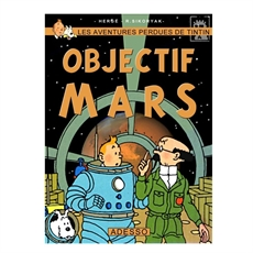 Tintin Objectif Mars Print A4-home-The Vault