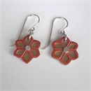Brass Daisy Earrings Copper Cutout