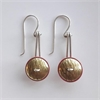 Mixed Metal Drop Earrings Brass -jewellery-The Vault