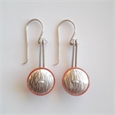 Mixed Metal Drop Earrings Copper+ Silver