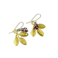 Pohutukawa Blossom Earring Stg Goldplate-jewellery-The Vault