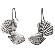 Fantail Earrings Silver-jewellery-The Vault