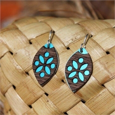 Laser Veneer Earrings Pacific Teal -jewellery-The Vault