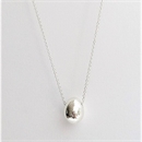 Egg Necklace Silver